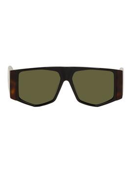 Black & Tortoiseshell Mask Sunglasses by Loewe