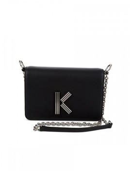 Kenzo Black Leather Tiger A5 Clutch Bag by Kenzo
