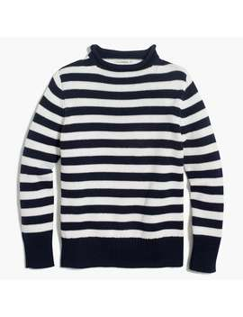 Boys' Striped Cotton Rollneck™ Sweater by J.Crew