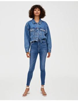 Skinny Jeans Met Hoge Taille by Pull & Bear