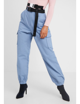 Belted Utility Combat Trouser   Broek by Missguided Petite