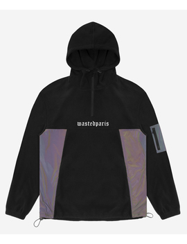 Hoodie Polaire Riot Reflective Noir by Wasted