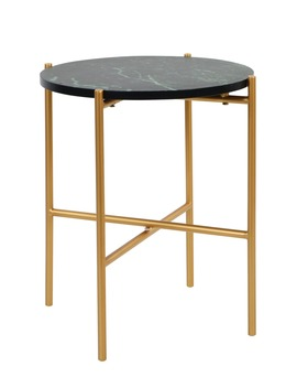 Marble Top Side Table (H45cm X W40cm) by Matalan