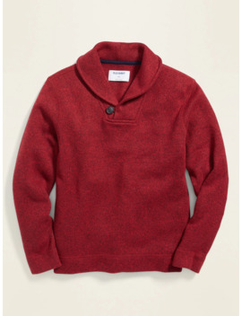 Fleece Knit Shawl Collar Pullover For Boys by Old Navy