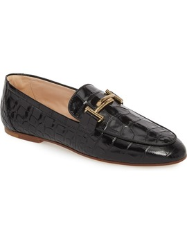 Double T Printed Loafer by Tod's