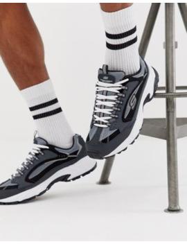 Skechers – Stamina Cutback – Blaugraue Chunky Sneaker by Asos