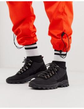 Asos Design – Technical – Sneaker Zum Wandern Aus Schwarzem Textilmaterial by Asos