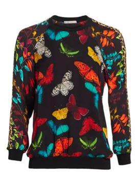 Calvin Butterfly Print Sweatshirt by Alice + Olivia