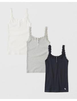 Camisole Mit Symbol Und Spitzenbordüre Im 3er Pack by Abercrombie & Fitch