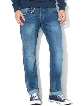 Blugi Slim Fit Cu Croiala Dreapta Vermont by Guess Jeans