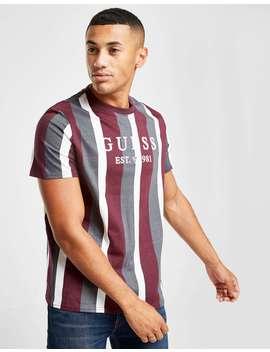 Guess Vertical Stripe T Shirt by Jd Sports