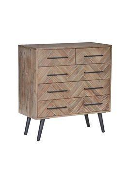 Taupe Lexy 5 Drawer Dresser by Modern Rustic Interiors