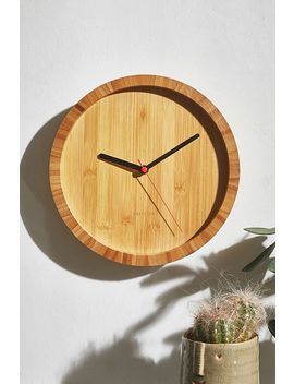 Karlsson Bamboo Wall Clock by Karlsson