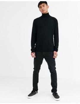 Weekday – Trey – Schwarzer Pullover Mit Stehkragen by Asos