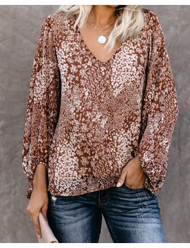 Polite Floral Balloon Sleeve Blouse by Vici