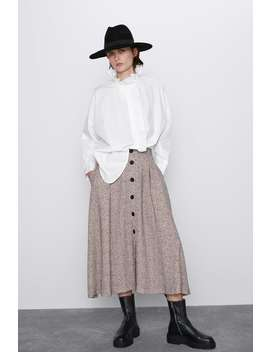 Oversize Poplinskjorte by Zara