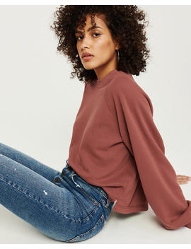 Puff Sleeve Sweatshirt by Abercrombie & Fitch