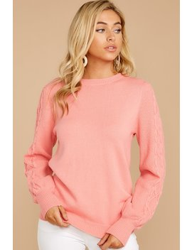 Wandering Through Winter Light Pink Sweater by Fable