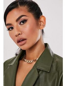 Gold Look Chain Chunky Choker Necklace by Missguided