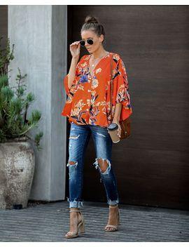 Dandy Satin Button Down Kimono Top by Vici