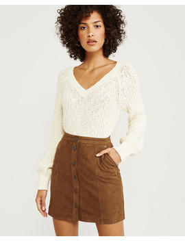Faux Suede Mini Skirt by Abercrombie & Fitch