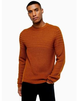 Toffee Yoke Crew Knitted Jumper by Topman