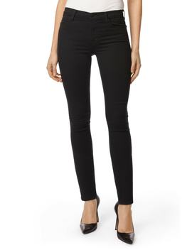 Maria High Waist Super Skinny Jeans (Seriously Black) by J Brand