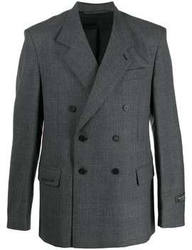 Balenciaga          Grey Boxy Blazer by Balenciaga