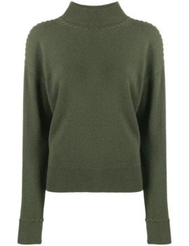 Rib Knit Trimmed Jumper by Theory