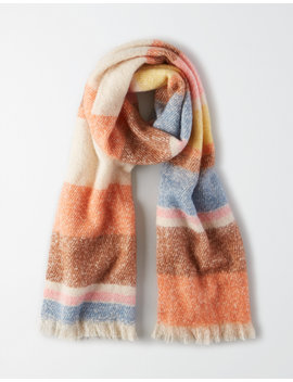 Aeo Striped Blanket Scarf by American Eagle Outfitters
