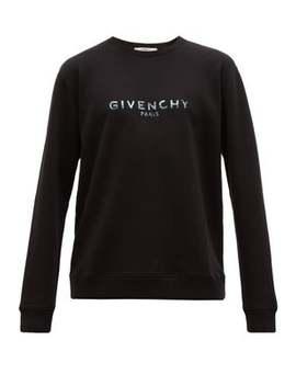 Logo Print Cotton Sweatshirt by Givenchy