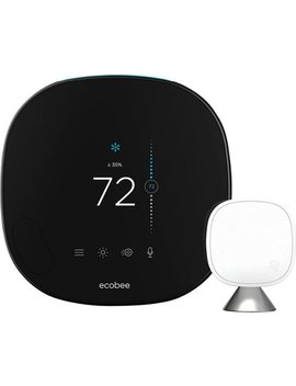 Smart Thermostat With Voice Control   Black by Ecobee