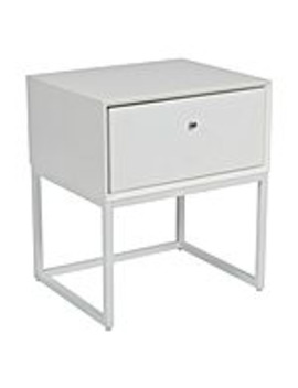 Theo Bedside Table, White by Zanui