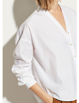 V Neck Button Down by Vince