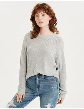 Ae Slouchy Crew Neck Sweater by American Eagle Outfitters