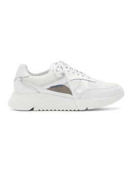 White & Beige Genesis Sneakers by Axel Arigato