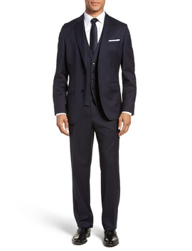 Johnstons Cyl Classic Fit Solid Wool Sport Coat by Boss