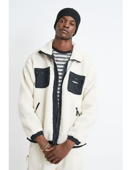 Obey Out There Ecru Sherpa Jacket by Obey