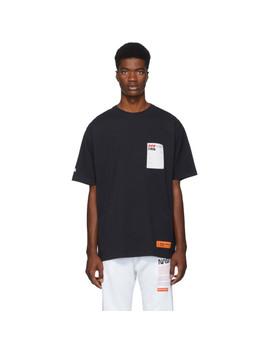 Black Sticker Label T Shirt by Heron Preston