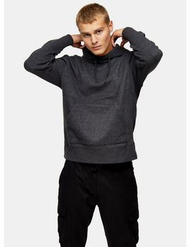 Charcoal Grey Marl Peached Hoodie by Topman