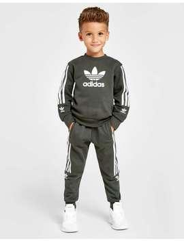 Adidas Originals Lock Up Trefoil Crew Tracksuit Children by Jd Sports