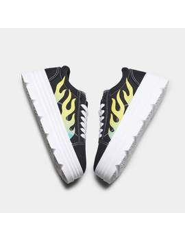 The Furies Yellow Flamed Chunky Trainers 🔥 by Koi Footwear