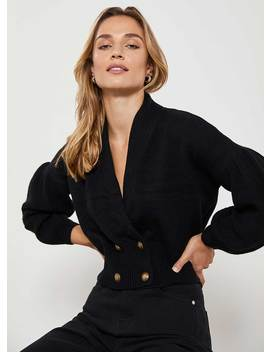Black Double Breasted Cardigan by Mint Velvet