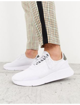Pull&Amp;Bear Mesh Trainer With Grey Detailing In White by Pull&Bear