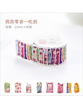 80pcs/Pack Nostalgic Snack Food And Drinks Afternoon Tea Time Decorative Washi Tape Diy Planner Diary Scrapbooking Masking Tape by Ali Express.Com
