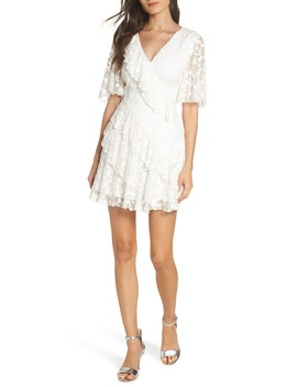 Retrospect Embroidered Mesh Ruffle Party Dress by Keepsake The Label
