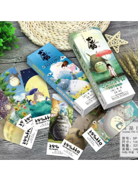 32 Pcs/Pack Cartoon Totoro Comic Bookmark Paper Cartoon Animals Bookmark Promotional Gift Stationery Film Bookmark by Ali Express.Com
