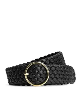 braided-leather-belt by arket