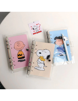 Hot Sale Simple Style Snoopy Loose Page Handbook A6 Grid Notebook Student Agenda Planner Travel Diary Stationery School Supplies by Ali Express.Com