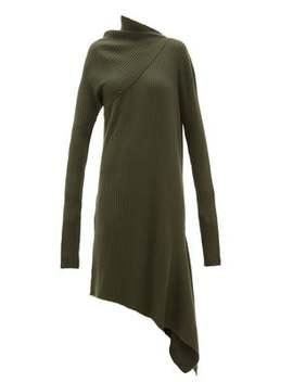 Asymmetric Ribbed Wool Dress by Marques'almeida